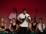 Paul Luongo of the Langley Ukulele Ensemble performs a solo at the Astor Theatre