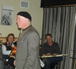 Jim D'Ville during his Hank and Buck by Ear workshop with Gerald Ross playing steel guitar