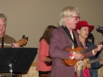Gene Nichols and a couple members of the University of Maine at Machias Ukulele Club