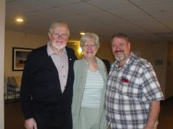 Chalmers and Jean Doane and Manitoba Hal prior to the beginning of the Ceilidh.