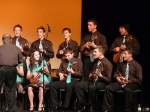 The Langley Ukulele Ensemble boys performing during the Saturday night concert at the Astor Theatre