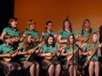 The Langley Ukulele Ensemble girls performing during the Saturday night concert at the Astor Theatre