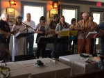 University of Maine at Machias Ukulele Club performing at Lane's Privateer Inn