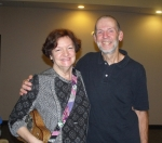 Sandra Obritsch, director of the South Shore Ukulele Players and member of the Ceilidh Planning Committee with Chris And