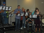 Some members of the University of Maine at Machias Ukulele Club